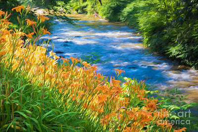 Finger Lakes Digital Art - Tiger Lily Creek by Michele Steffey