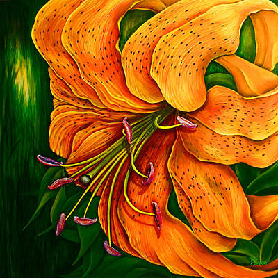 Lily Painting - Tiger Lily by Debra Bucci