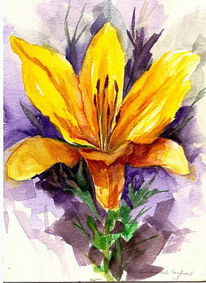 Art Print featuring the painting Tiger Lily by Ellen Canfield