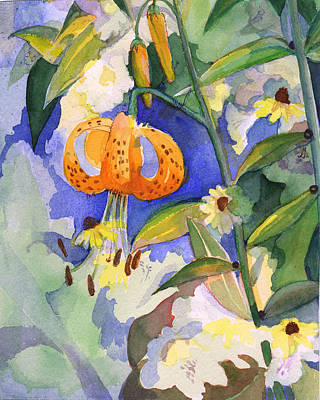 Painting - Tiger Lily In Dappled Light  by Nancy Watson