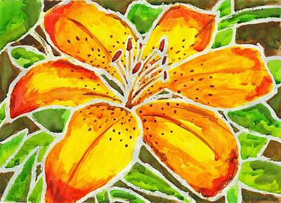 Painting - Tiger Lily  by Katie Sasser