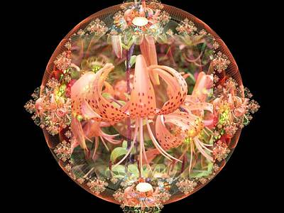 Digital Art - Tiger Lily Sphere by Nancy Pauling