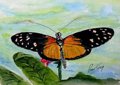 Painting - Tiger Longwing - Dorsal View by Peggy King