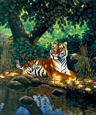Tiger Art Print by MGL Studio - Chris Hiett