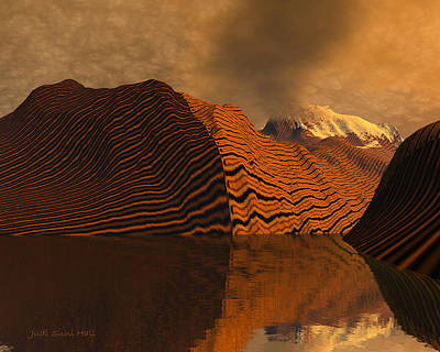 Digital Art - Tiger Mountains by Judi Suni Hall