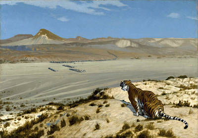 Jean-leon Gerome Painting - Tiger On The Watch by Jean-Leon Gerome