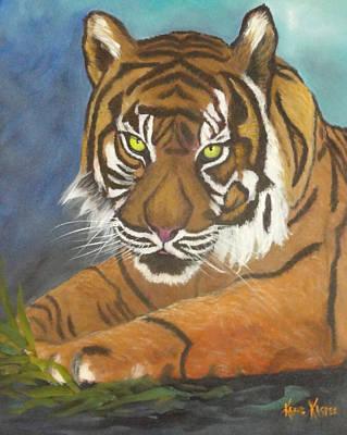Tiger One Art Print by  Kathie Kasper