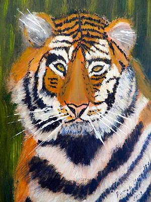 Tiger Art Print by Pamela  Meredith