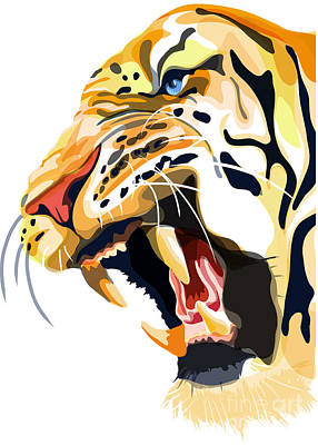 Painting - Tiger Roar by Sassan Filsoof