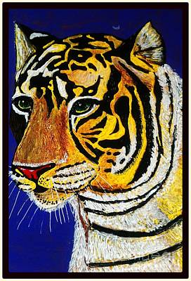 Tiger Art Print by Saundra Myles