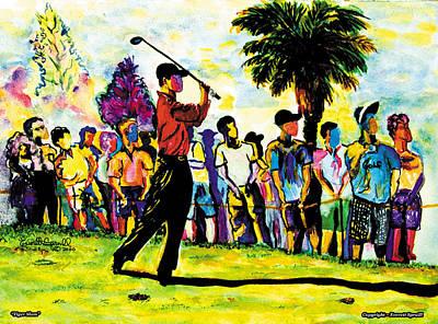 Tiger Slam Art Print
