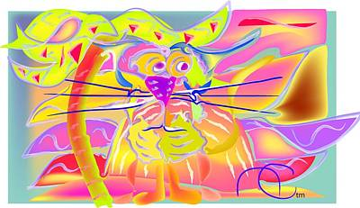 Bravado Digital Art - Tiger Sunset by Andy Cordan