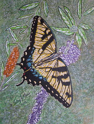Tiger Swallowtail Butterfly Art Print by Kathy Marrs Chandler