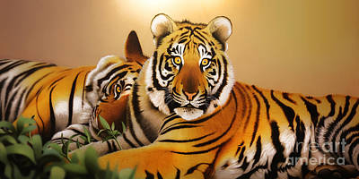 Digital Art - Tiger Tales by Shannon Rogers