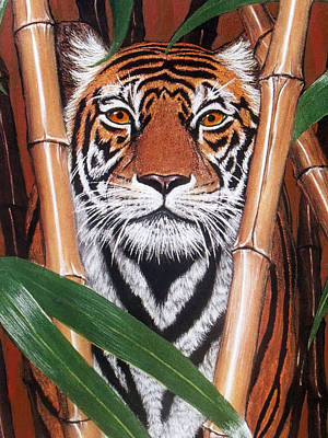 Painting - Tiger Tiger Burning Bright by David Clode