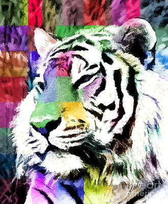 Tiger - Tigre Art Print by Ze  Di