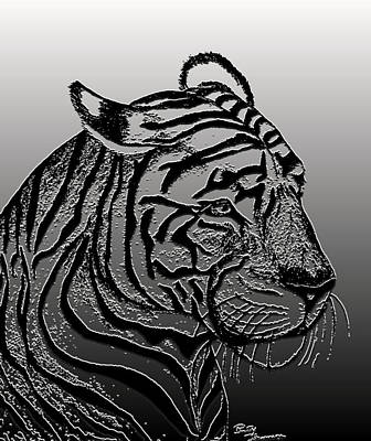 Digital Art - Tiger V by Debbie Portwood