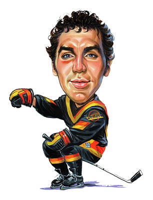 Vancouver Canucks Painting - Tiger Williams by Art