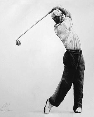 Tiger Woods Original by Adam Barone