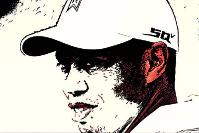 Tiger Woods Painting - Tiger Woods by MotionAge Designs
