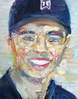 Tiger Woods Painting - Tiger Woods - Oil Portrait by Fabrizio Cassetta