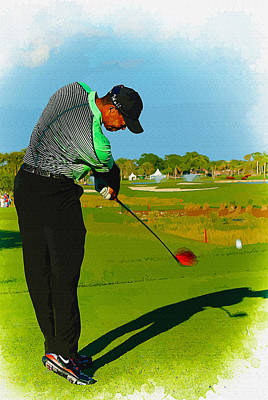 Ernie Els Wall Art - Digital Art - Tiger Woods  - Second Round Of The Honda Classic by Don Kuing