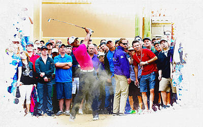 Ernie Els Wall Art - Digital Art - Tiger Woods - The Waste Management Phoenix Open At Tpc Scottsdal by Don Kuing