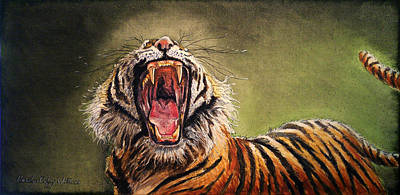 Painting - Tiger Yawn by Carolyn Coffey Wallace