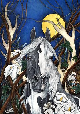 Mystical Landscape Painting - Tigerlily by Leslie Zantow