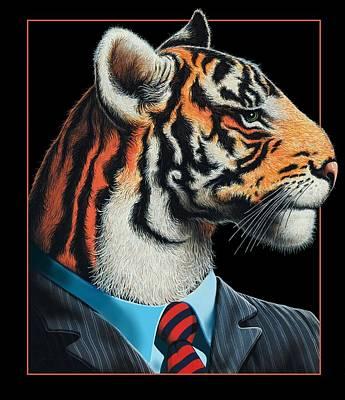 Tigerman Art Print by Scott Ross