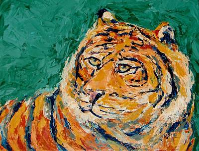 Painting - Tiger's Focus by Kat Griffin