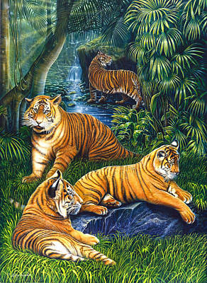 Tigers Art Print by Larry Taugher