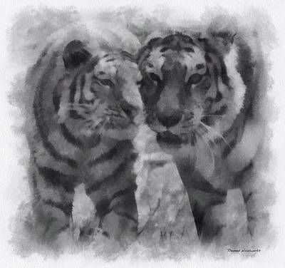 Asian Tiger Digital Art - Tigers Photo Art 01 by Thomas Woolworth