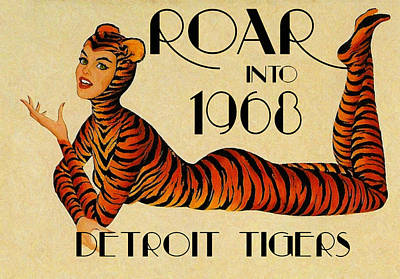 Detroit Tigers Painting - Tigers Roar Into 1968 by Big 88 Artworks