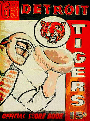Detroit Tigers Painting - Tigers Score Book by John Farr
