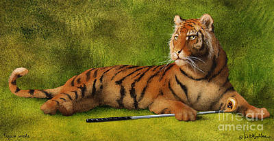 Painting - Tigers Woods... by Will Bullas