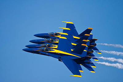 Blue Angels Photograph - Tight With My Brothers by Adam Romanowicz