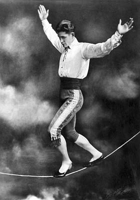 Photograph - Tightrope Walker Con Colleano by Underwood Archives