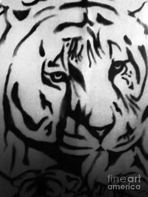 Digital Art - Tigress And Cub by Steven Murphy