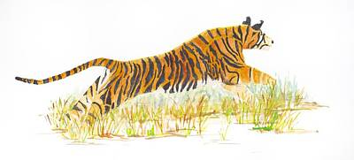 Painting - Tigress Leap 1 by Patricia Beebe