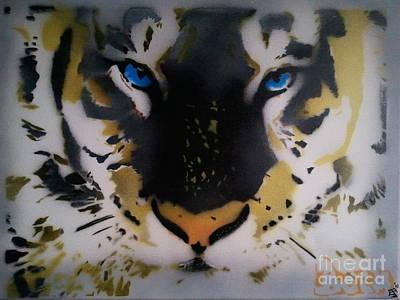 The Tiger Painting - Tigrrr 2 by Barry Boom