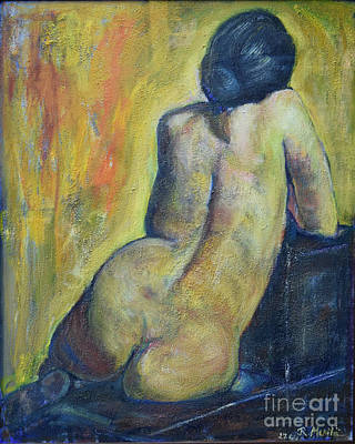 Tiina - Back Of Nude Woman Art Print