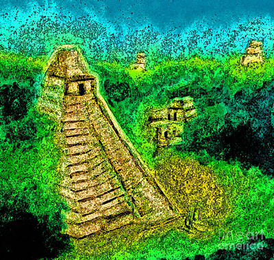 Mayan Drawing - Tikal By Jrr by First Star Art
