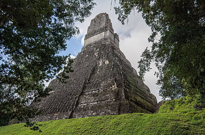 Photograph - Tikal Pyramid 1b by Michael Bessler