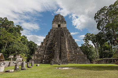 Photograph - Tikal Pyramid 1j by Michael Bessler