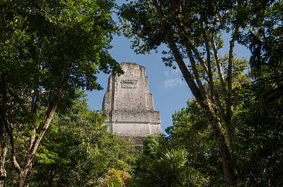 Photograph - Tikal Pyramid 4b by Michael Bessler