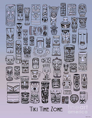 Digital Art - Tiki Cool Zone by Megan Dirsa-DuBois