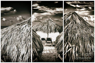 Tiki Hut Panels Art Print