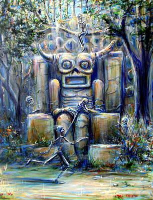 Painting - Tiki Man I by Heather Calderon