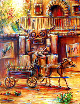 Painting - Tiki Man II by Heather Calderon